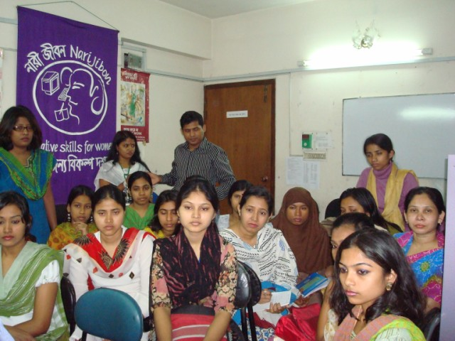 Workshop at Nari Jibon