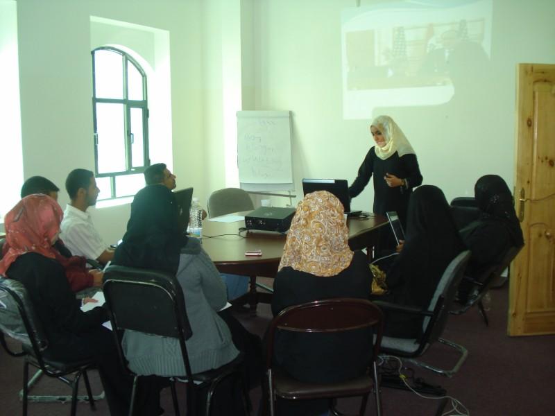 Ghaida'a lecturing