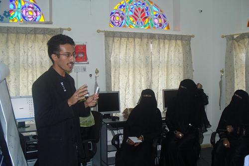 Sadiq al-Samawi introducing Facebook