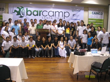 Participants of Barcamp Santa Cruz. Image courtesy Hugo Miranda.