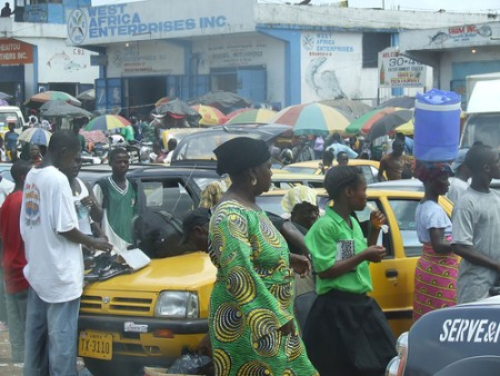 A Market in Monrovia. Image by Flicker user John Connell. Used under a Creative Commons License.