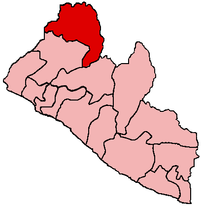 Lofa County in northernmost Liberia. Capital: Voinjama.