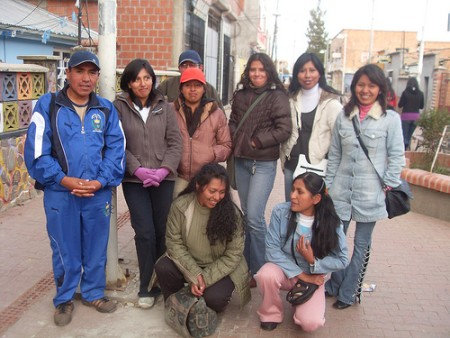 Edgar participating in an workshop in El Alto
