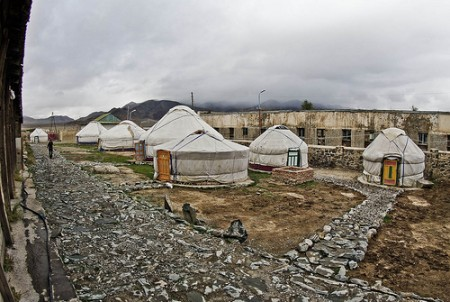 A Ger camp in Mongolia. Image by Flickr user Neurmadic Aesthetic, used under a Creative Commons License