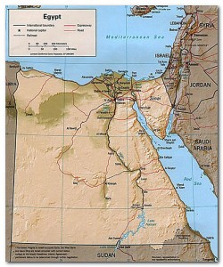 Map of Egypt from elicrisko