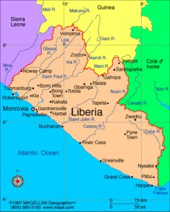 Map of Liberia. Image by Flickr user MercyWatch. CC BY-NC-ND