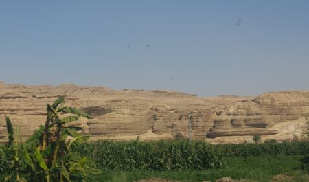 Minya mountain where many of the quarries are located.