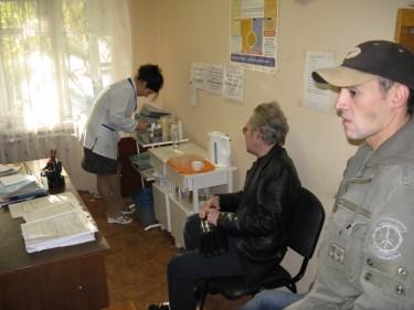 At the Methadone Site, Kiev, Ukraine