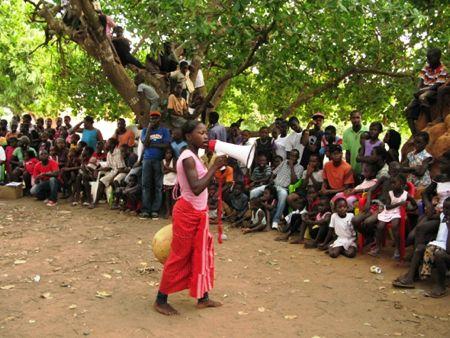 Comemoração do Dia da Criança Africana no bairro de Bandim em Bissau.