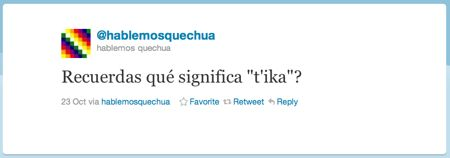 Weet je nog wat t'ika betekent?