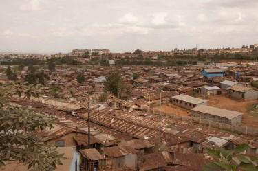 Una veduta di Kibera