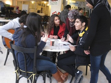 "Palestinian and Lebanese youth participating in ""A Shared Vision for a Better Future,"" a leadership and peacebuilding event at AltCity"