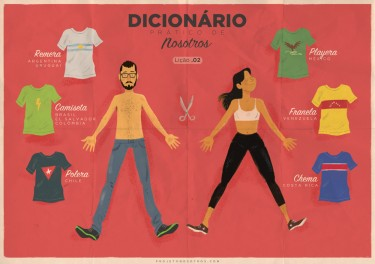 One of Projecto Nosotros' cartoons about linguistic differences across Latin America
