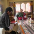 Interviews with Monks... Photographs from micrograntee podcasting workshops in Bhutan