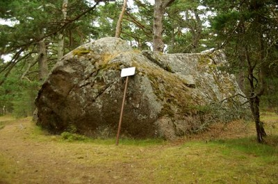 A Norwegian monument, with carved hollows from possibly the stone age. Photo by Ilme Parik.