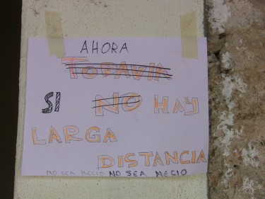 A poster from the Dizha Kieru project in Mexico, proclaiming the newly available communication services.