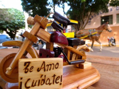 "Woodwork from Itapua, Paraguay. Message: ""I love you, Take Care!"" (Used with permission from the VISPERA)"
