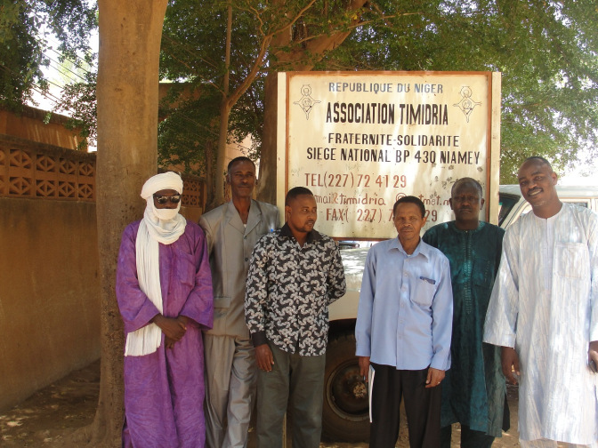 Mapping for Niger visit to Timidria