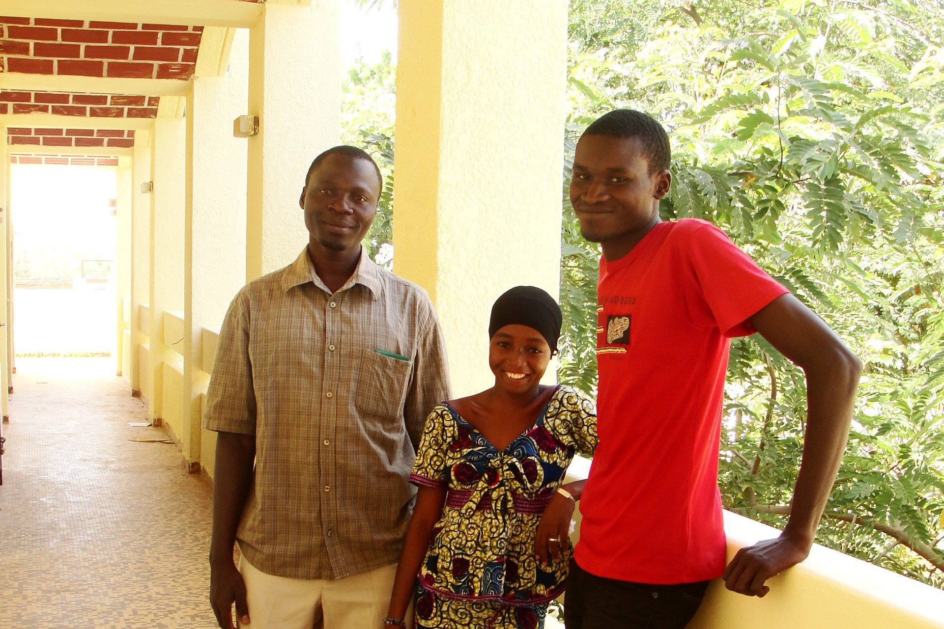 Mahaman, Fatiman, and Abdousalam, students of the Mapping for Niger project.