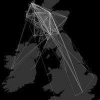 Mapping the Twitter Sphere: Scottish Gaelic, Great Britain and Ireland.