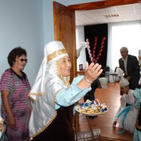 An opening ceremony for an online center supported by the Pushkin Library. See more on the blog.