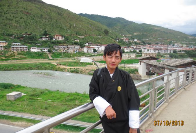 Jigme Tshewang, a participant in the Bhutan Centre for Media and Democracy's audio podcasting project, a  Rising Voices grantee project.