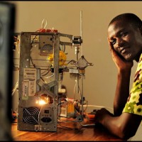 W. Afate, creator of the 3D printer made from e-waste at Woelab.
