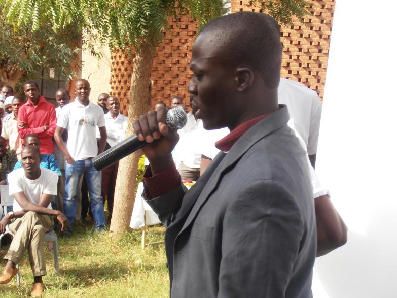 Allocution du jeune coordinateur du Projet Mapping For Niger