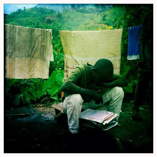 Homework, Kakuka, Uganda, on the border with DRC. June 7, 2012. Photo by Peter diCampo