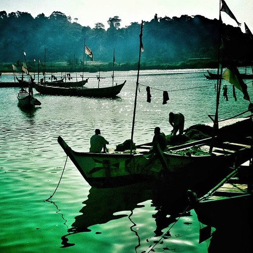 Fishing boats in the harbor in San Pedro, Ivory Coast. March 2012. Photo by Austin Merrill.