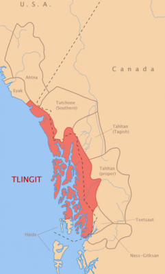 Tlingit territory - republished from Wikipedia (CC BY 2.0)