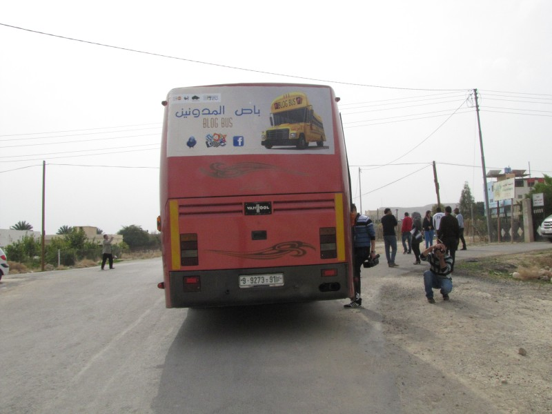 The famous bus which takes bloggers, activists and journalists to explore and report on the various issues in Palestine