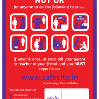 A poster for schools available on the Safecity website