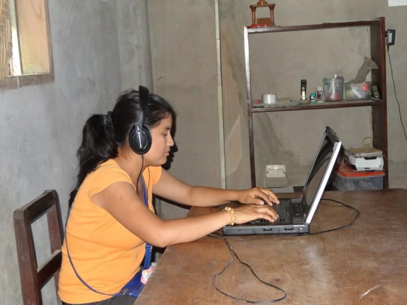 Integrante del proyecto Tsimane. Foto usada con autorización.
