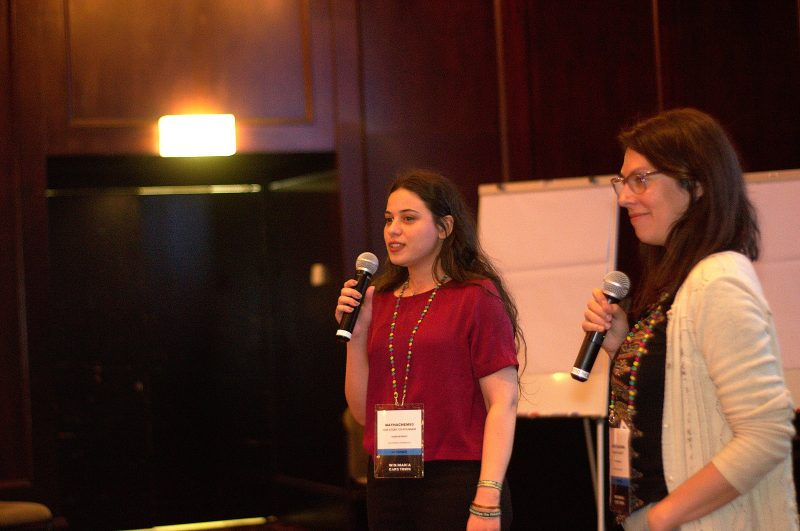 #VisibleWikiWomen coordinators May Hachem and Mariana Fossatti. Photo used with permission.