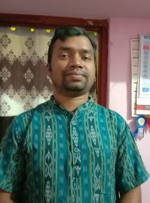 Portrait of Ashwani Murmu, Santali language activist