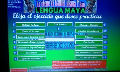 Vista de su curso en línea: Ko'otene'ex kaambal maaya t'aan (vengan a aprender lengua maya).