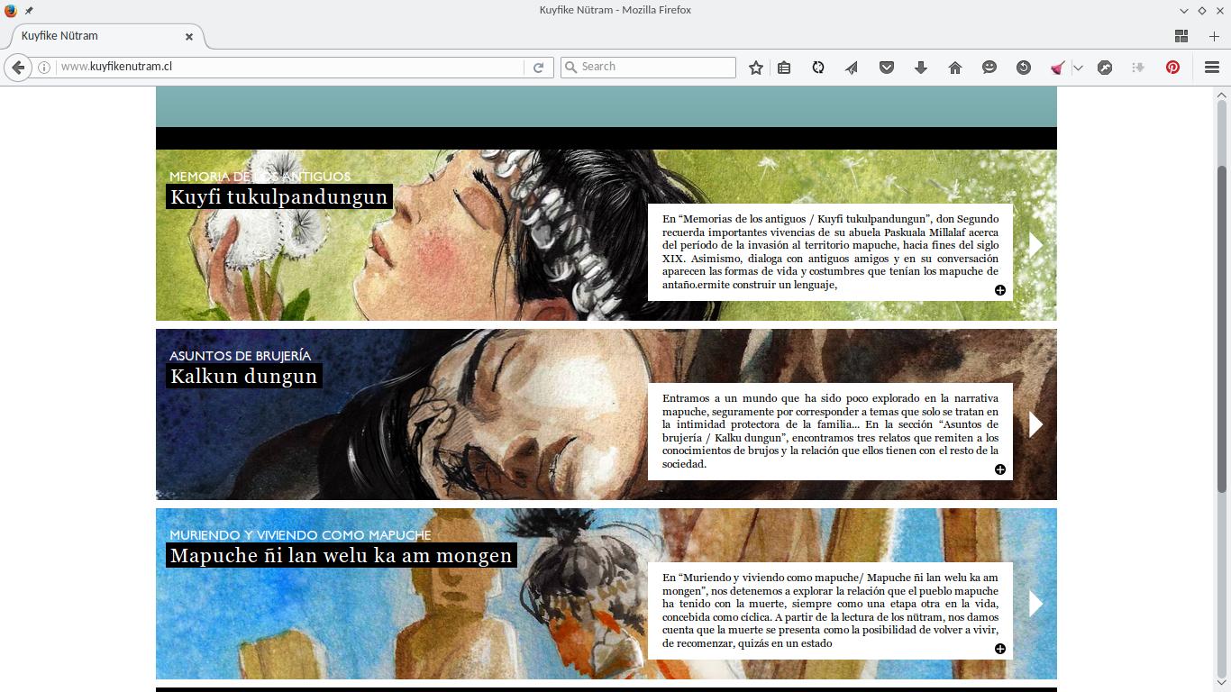 Página del Proyecto Kuyfike Nütram.
