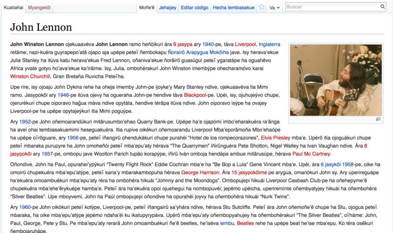 Ejemplo de una publicación en Vikipetã
