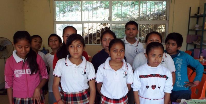 """Niños participantes del proyecto """"In tsalpadh t'ilab i mam""""."""