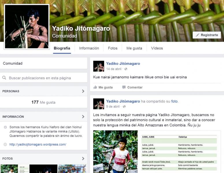 Página de Facebook del proyecto.