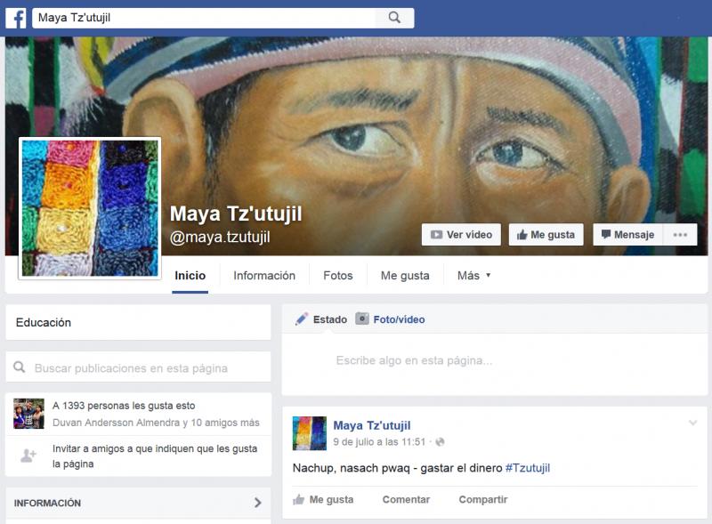 "Página de Facebook ""Maya Tz'utujil"""