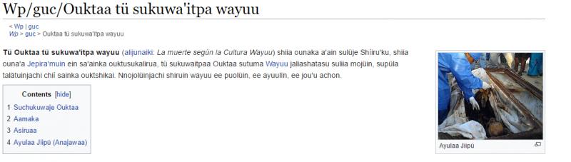 Ouktaa tü sukuwa'itpa wayuu