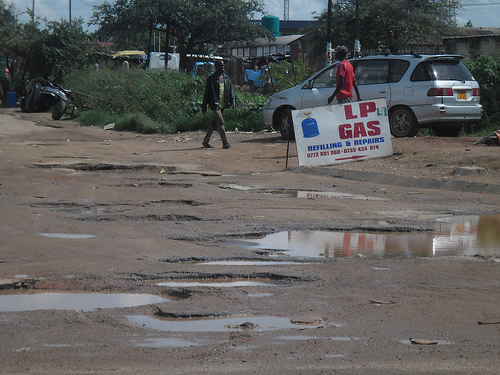 Potholes are now a very common feature among the city's roads.